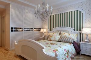 90平米欧式田园风格自然舒适室内卧室装修效果图