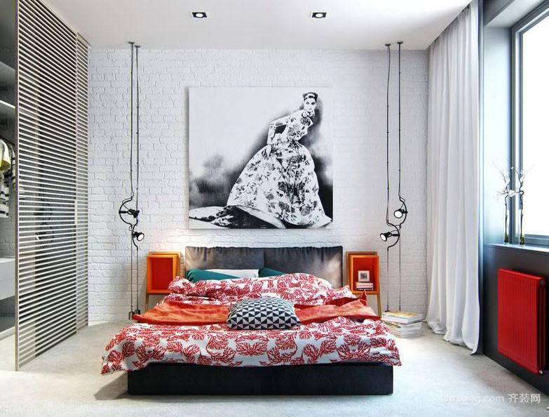 后现代风格简约时尚创意室内卧室装修效果图