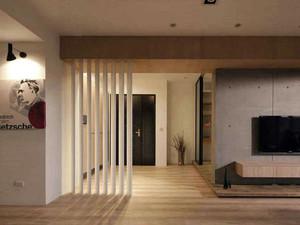 90平米现代简约风格时尚进门玄关镂空隔断装修效果图