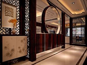 大户型现代中式风格进门玄关装修效果图