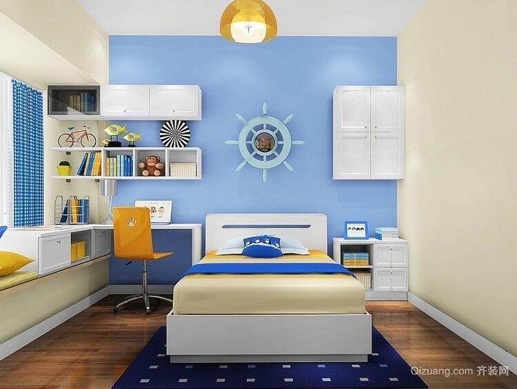 经典大户型欧式风格儿童房背景墙装修效果图