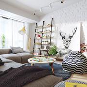 时尚创意客厅装修效果图