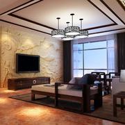 别墅型中式客厅设计装修效果图欣赏
