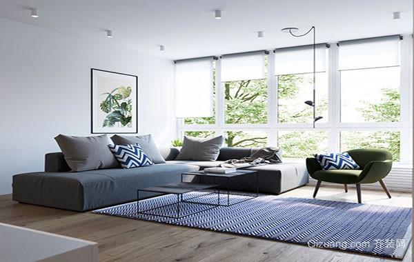 70平米都市简约风格时尚创意室内公寓装修效果图
