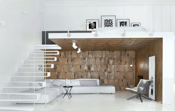 北欧风格简约时尚创意错层公寓装修效果图赏析