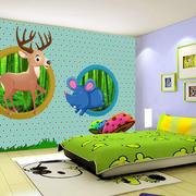 简约时尚创意室内儿童房墙体彩绘装修效果图