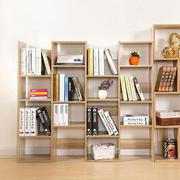现代简约风格时尚80平米两居室书房创意书架装修效果图
