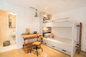 2016年北欧风格80平米自然简约儿童房卧室装修效果图