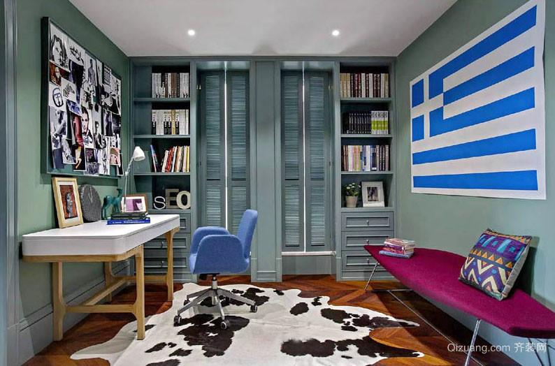 100平米后现代风格简约时尚室内书房装修效果图