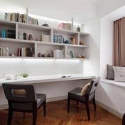 简欧风格时尚创意书房飘窗装修效果图