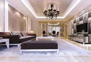现代大户型客厅室内设计装修效果图欣赏