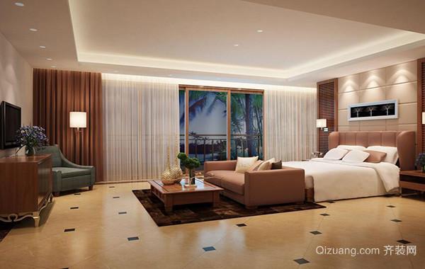 大户型欧式风格卧室背景墙装修效果图欣赏