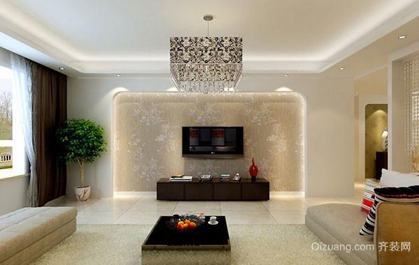 现代简约风格两室两厅客厅装修效果图赏析