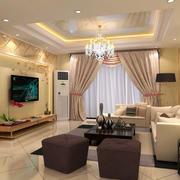现代简约风格卧室窗帘设计