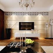 现代简约风格客厅背景墙装修