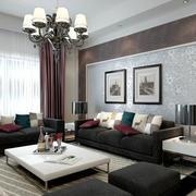 时尚创意简约客厅背景墙效果图