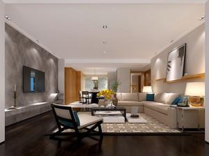 2016年全新款现代简约风格客厅大理石电视背景墙装修效果图
