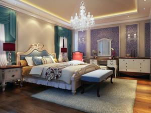 2016大户型欧式风格卧室窗帘装修效果图欣赏