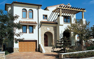 现代风格200平米乡村自建别墅整体设计效果图