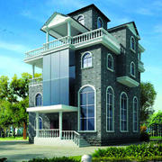 欧式风格自建别墅整体设计装修效果图赏析
