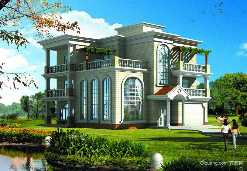 欧式风格两层自建别墅整体设计装修效果图