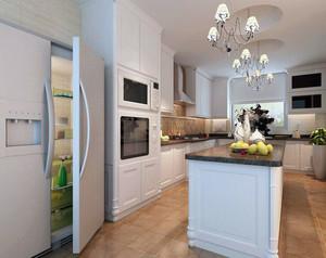 2016别墅型欧式风格厨房吊顶装修效果图