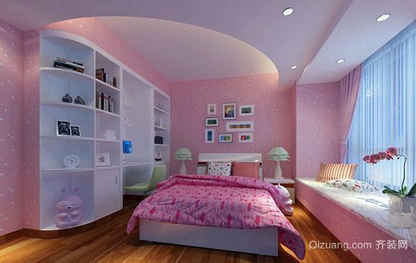 可爱简约时尚儿童房卧室设计装修效果图赏析