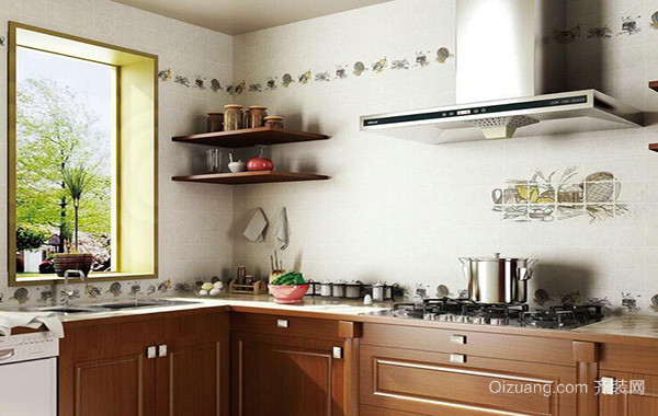 2016小户型欧式厨房橱柜设计装修效果图欣赏