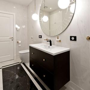90平米现代简约风格时尚创意单身公寓装修效果图
