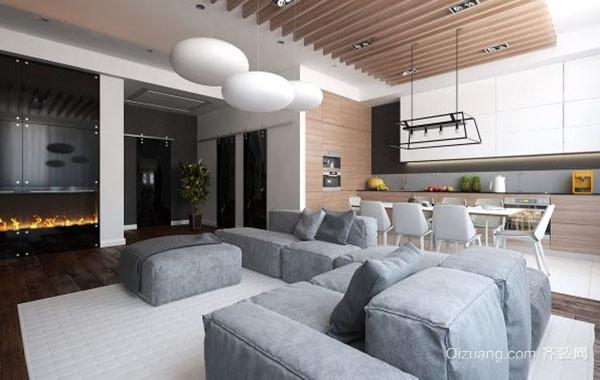 85平米现代风格简约时尚创意温馨公寓装修效果图赏析