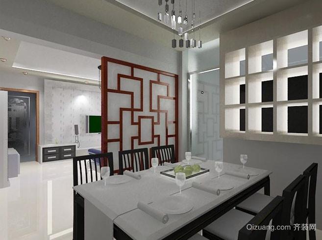 80平米三居室简约风格厨房隔断装修效果图