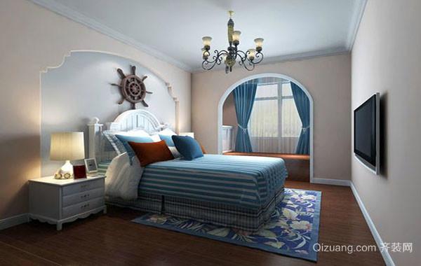 2016年新款地中海风格自然简约卧室装修效果图赏析