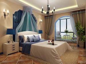 地中海风格大户型简约舒适儿童房卧室装修效果图