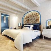 90平米地中海风格简约室内卧室装修效果图