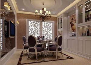 小户型欧式餐厅背景墙设计装修效果图欣赏