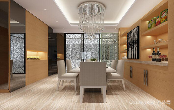 2016别墅欧式风格餐厅室内装修效果图欣赏
