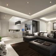 精致的大户型欧式客厅设计装修效果图欣赏