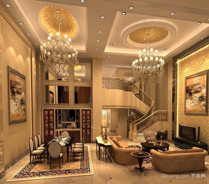 高贵欧式别墅型客厅室内装修效果图欣赏