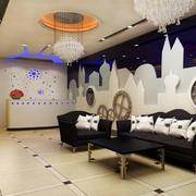 2016精致大户型现代简约客厅装修效果图
