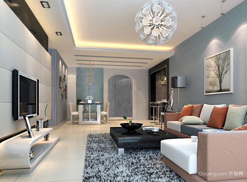 经典的小户型现代客厅设计装修效果图欣赏