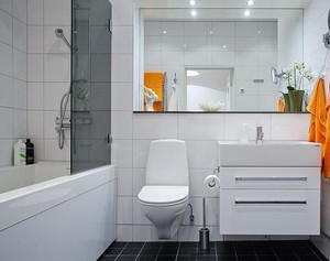 大户型欧式卫生间背景墙设计装修效果图欣赏
