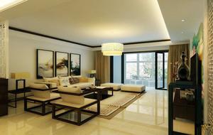 新中式风格客厅吊顶装修