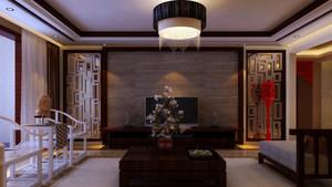 新中式风格精致大户型室内客厅吊顶装修效果图赏析