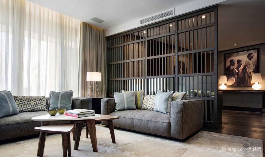 现代美式风格时尚创意三居室客厅装修效果图