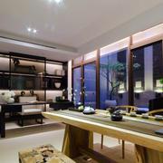 120平米新中式风格精致大气书房装修效果图