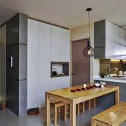 70平米现代简约风格宜家温馨室内厨房餐厅装修效果图