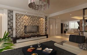 别墅欧式客厅电视背景墙装修效果图欣赏