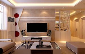 现代简约风格两室两厅客厅电视背景墙装修效果图