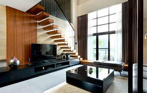 120平米现代简约风格客厅电视背景墙装修效果图赏析