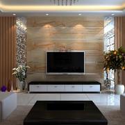 客厅大理石电视背景墙